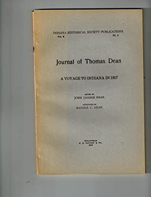 Journal of Thomas Dean; A Voyage to Indiana in 1817