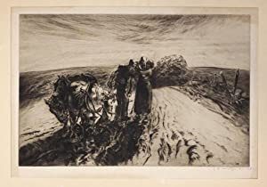 ( Original Engraving ) Untitled ( When Day is Done )