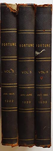 Fortune Magazine, Volume 5, Jan. - Mar. And Apr.-Jun. And Vol. 6, Oct. - Dec., 1932