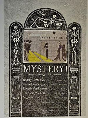 Publicity Poster for MYSTERY ! So Entertaining: Gorey, Edward); Vincent