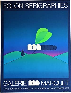 Folon Serigraphies, Galerie Marquet: Silkscreen Exhibition Poster: Folon, Jean-Michel (