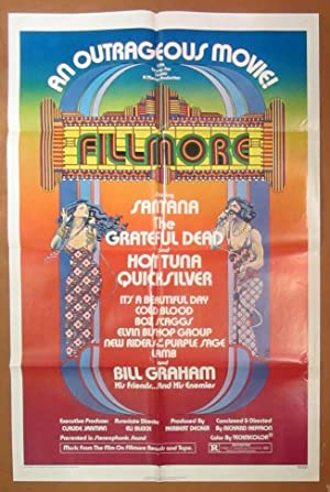 Fillmore - Original Folded One Sheet Movie Poster (1972)