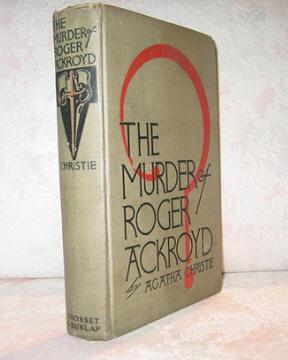 MURDER OF ROGER ACKROYD: Christie, Agatha