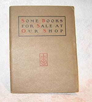 CATALOG) SOME BOOKS FOR SALE AT OUR SHOP in 1902.