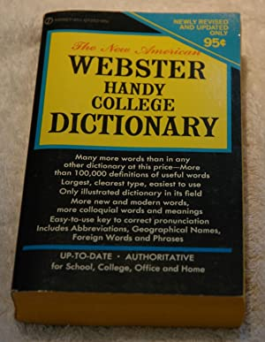 The New American Webster Handy College Dictionary: Morehead, Albert H.;