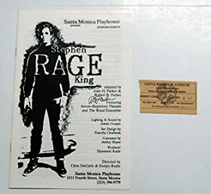 Rage Playbill (Stephen King, Robert Parker) Signed: Stephen King /