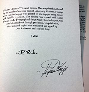 The Ideal, Genuine Man (Signed/Limited Edition): Stephen King Don Robertson