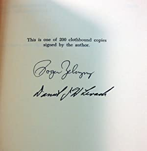 AMBER DREAMS: A ROGER ZELAZNY BIBLIOGRAPHY (Signed) With Annotations by Darrell Schweitzer, Janny ...
