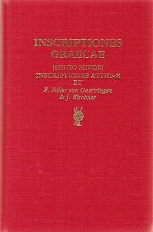 Inscriptiones Atticae. Euclidis anno Anteriores. Consilio et: Hiller von Gaertringen,