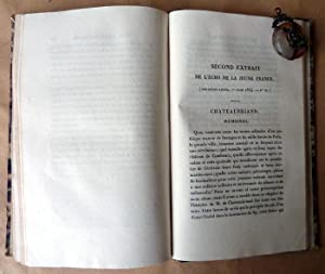 Lectures des Mémoires de M. De Chateaubriand ou recueil d'articles publiés sur ...