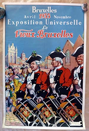 Affiche de L'Eposition Universelle de Bruxelles; Avril: Thiriar (James).