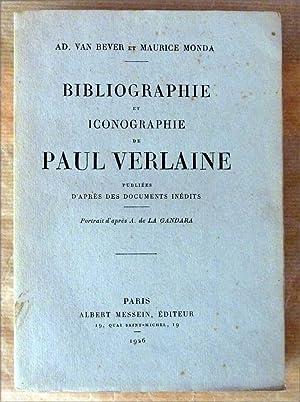 Bibliographie et Iconographie de Paul Verlaine, publiées d'après des documents inédits.: Van ...