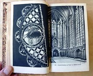 """Un fort volume, recueil de trois ouvrages: """"Le Vitrail en France"""" par M. Aubert; """"La ..."""