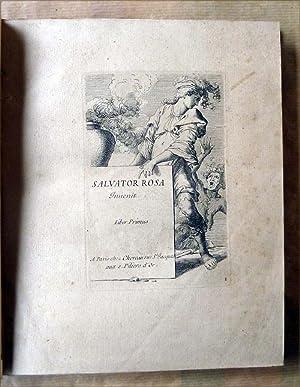Un recueil de 60 épreuves à l'eau forte d'après Salvatore Rosa. ...
