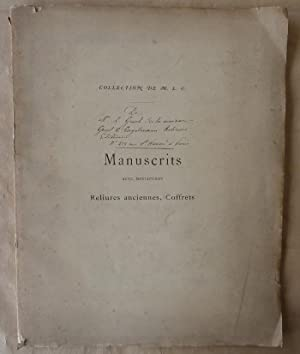 Catalogue de vente aux enchères de la Collection de Manuscrits avec miniatures, reliures, ...