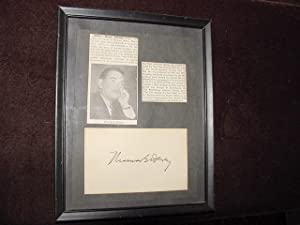 SIGNED CARD: Dewey, Thomas E.