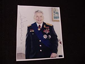 SIGNED PHOTO: Kalashnikov, Mikhail