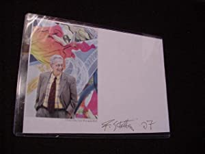 SIGNED PHOTO SHEET: Stella, Frank