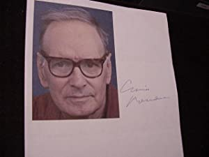 SIGNED PHOTO SHEET: Morricone, Ennio (Composer)