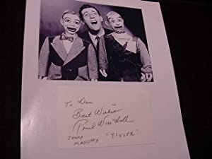 SIGNED CARD: Winchell, Paul