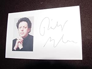 SIGNED PHOTO: Glass, Philip