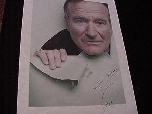 SIGNED PHOTO SHEET: Williams, Robin