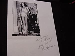 SIGNED PHOTO SHEET: Myerson, Bess