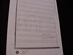 SIGNED MUSICAL QUOTATION (AMQS): Dello Joio, Norman