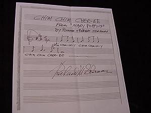 SIGNED MUSICAL SHEET (AMQS): Sherman, Richard M.