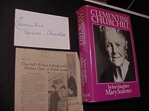 AUTOGRAPH: Churchill, Clementine Spenser