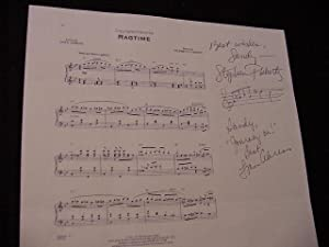 SIGNED MUSICAL SHEET (AMQS): Flaherty, Stephen; Ahrens, Lynn