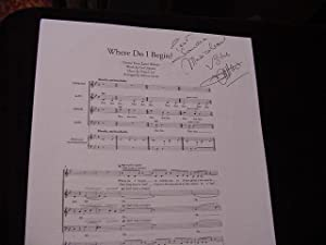 SIGNED MUSICAL SHEET (AMQS): Lai, Francis (Composer)