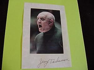 SIGNED PHOTO SHEET: Tarkanian, Jerry
