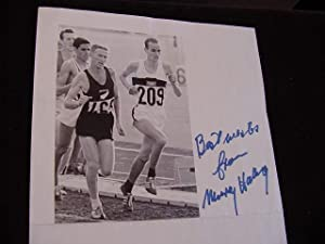 SIGNED PHOTO SHEET: Halberg, Murray Sir
