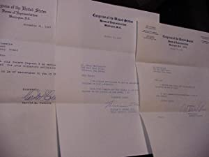 SIGNED LETTERS-- ILLINOIS Political Group Lot (US: Murphy, William T;