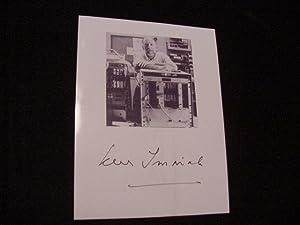 SIGNED PHOTO-CARD: Immink, Kees Schouhamer Dr.
