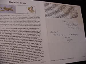 SIGNED BIOGRAPHY SHEET: Jones, Major Gen. Davy M. (Doolittle Raid)