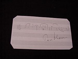 SIGNED CARD W/AMQS: Moravec, Paul