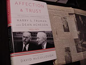 Affection and Trust: The Personal Correspondence of: Truman, Harry S.;