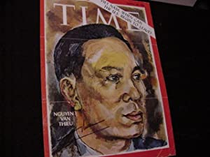SIGNED TIME MAGAZINE COVER: Thieu, Nguyen Van