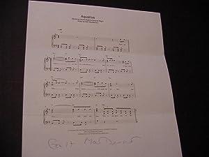 SIGNED MUSICAL QUOTATION (AMQS): MacDermot, Galt (composer)