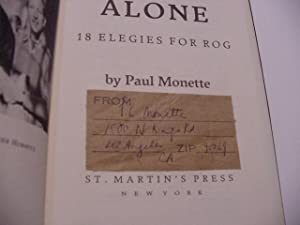 Love Alone : Eighteen Elegies for Rog: Monette, Paul