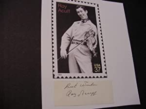 SIGNED CARD - Autograph: Acuff, Roy (1903-1992)