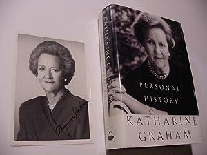 SIGNED PHOTO: Graham, Katharine (1917-2001)