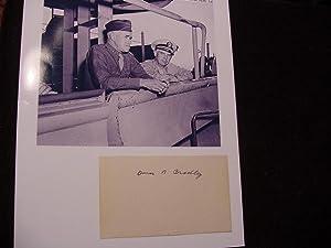 SIGNED CARD: Bradley, Omar Gen.
