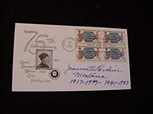 SIGNED FIRST DAY POSTAL COVER (FDC): Rankin, Jeannette