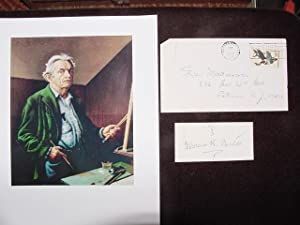 SIGNED CARD: Benton, Thomas Hart