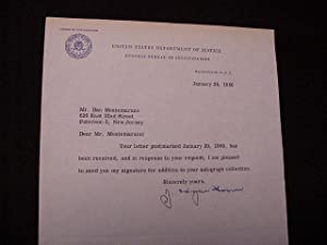 SIGNED TYPED LETTER