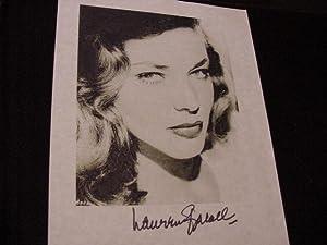 SIGNED PHOTO: Bacall, Lauren