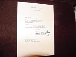 SIGNED TYPED LETTER: Humphrey, Hubert H.